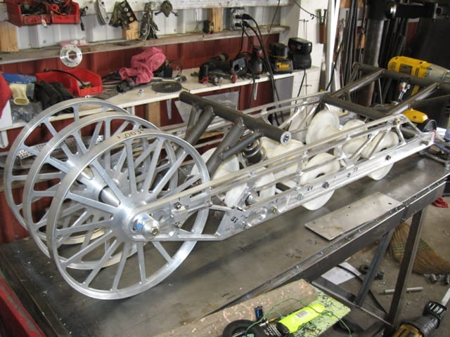 vehicle for racing being built