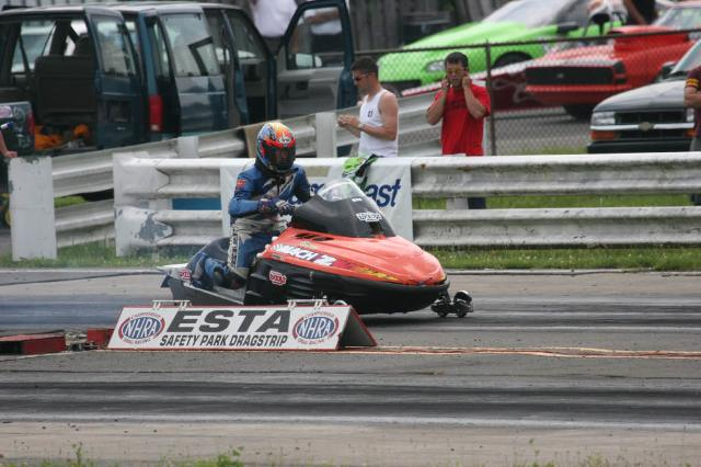 a person riding a powersports vehicle