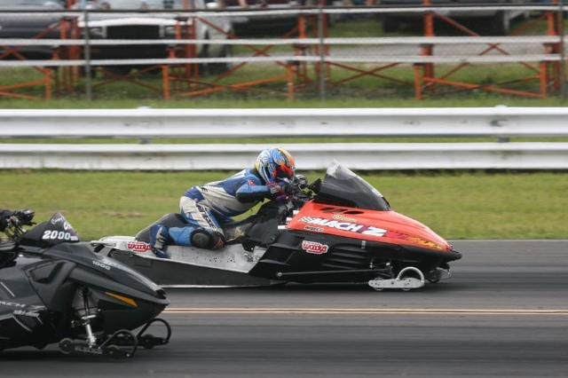 a person driving a powersports vehicle 9